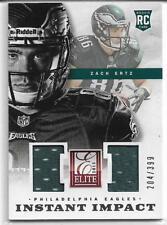 2013 Panini Elite Dual Jersey Zach Ertz Rookie 204/399 Philadelphia Eagles