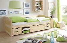 Canapé-lit multifonction avec tiroirs et niches MARLIES Naturel