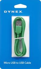 Brand New Sealed GREEN Dynex 3 Feet Micro USB to USB Charging Sync Data Cable