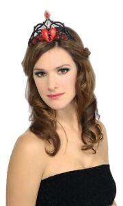 Queen of Broken Hearts Heart Tiara Crown Hat Adult Womens Costume Accessory