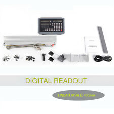 2axis Digital Readout Dro 400mm Linear Glass Scale Encoder For Milling Lathe Us