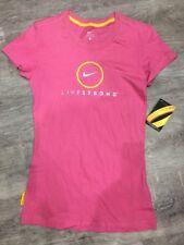 Nike Livestrong Women's T-shirt Pink X-Small Cycling Gym Running Top 392478-652