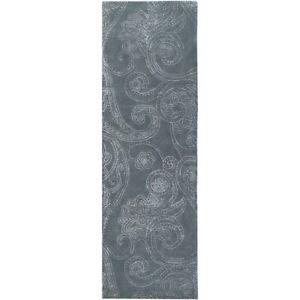 Surya CAN-2078 Modern Classics Runner, 2'6' x 8', Medium Gray/White