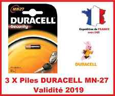 3 Batteria DURACELL MN-27/A27 / LR27 - 12V DLC 2019