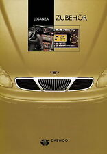Prospekt Daewoo Leganza Zubehör 7 00 2000 brochure Autoprospekt Auto Pkw Korea