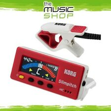 Korg SlimPitch Chromatic Guitar Tuner & Contact Microphone - Red & White- SLM1CM