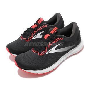 Brooks Glycerin 18 Black White Orange Women Road Running Shoes Sneaker 120317 1B