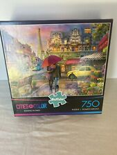 Buffalo Games - Cities in Color - Raining in Paris Beautiful Puzzle 750 Pieces