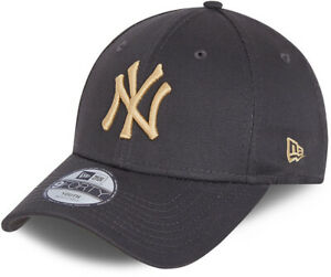 NY Yankees Kids New Era 940 League Essential Grey Baseball Cap (Ages 4 - 6)