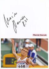Marcin Starzak  Polen  Leichtathletik Karte signiert WL 345771