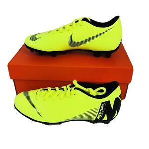 Nike Mercurial Vapor 12 Club MG/FG Soccer Cleats Volt AH7378-701 Women's 6.5 New