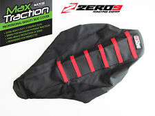 SUZUKI Ribbed Gripper Seat Cover Fits RM125 RM250 2001-14 Black/Black/Red