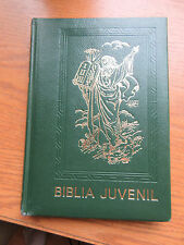 Biblia Juvenil by Mary Theola 1972 Spanish Gilded Leather Illustrated