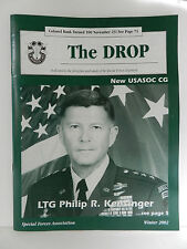 GREEN BERET, THE DROP MAGAZINE, WINTER 2002 ISSUE, SPECIAL FORCES ASSOCIATION