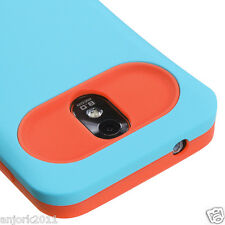Samsung Galaxy S2 4G Sprint Boost D710 R760 Hybrid Case Cover Blue Orange