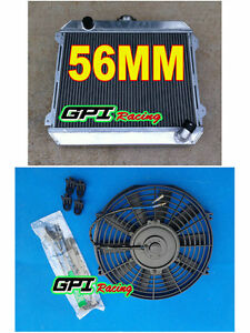 3 ROW  radiator for Nissan Datsun STANZA 510 610 710 720 L20B manual +Fan