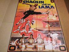SHAOLIN CONTRE LAMA   ! rare affiche cinema karate kung-fu