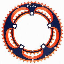 gobike88 MOWA ROAD Bike ChainRing Set, 53/39T, Orange and Black Anodized, Q34