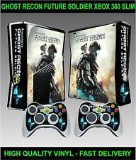 Xbox 360 SLIM Console Sticker Skin Ghost Recon Future Soldier + 2 X Pad Skins