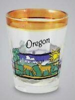 OREGON PEARL TRIM WILDLIFE SHOT GLASS SHOTGLASS