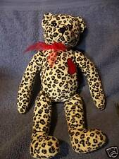 "Gund Wild Things Plush Stuffed Bear #14005 12"" Floral Print With Heart Cute"