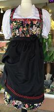 Dirndl, leichtes Sommerkleid, schwarz, floral, geblümt, Kaiseralm, Gr. 38