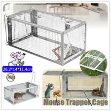 Rat Trap Cage Small Live Animal Pest Rodent Mouse Control Bait Catch Silver Usa