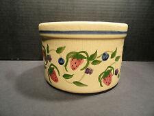 Alpine Pottery Roseville Ohio Crock Strawberry Design