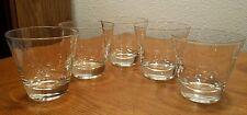 5 Mid-Century Modern 6 Point Atomic Star Cut 10oz Whiskey Glasses