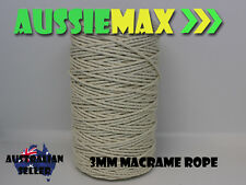 3mm Macrame Rope 100% Natural Cotton Cord 220Meters