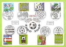 FDC Komb. UEFA EURO 2008 - 8 Marken mit 8 ETSSt Motiv: Kinderzeichnungen