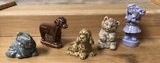 Lot Of Red Rose Tea Wade Figurines~Calendar Girl Dogs Bear Cat Tea