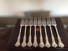 """Juego de 8 tenedores de cena de plata plateado (Poston Lonsdale placa) 7.25"""" (SPDF 808)"""