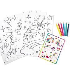 EINHORN 13-tlg. Malset mit 6 Vorlagen, Buntstifte & Stickern #follow your dreams