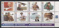 MICRONESIA 1993, AVIATION, PIONEERS OF FLIGHT Scott 155, BLOCK OF 8, MNH