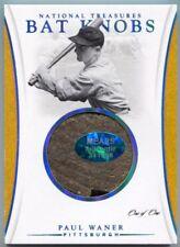 2017 National Treasures Paul Waner Game Used Bat Knob Patch #1/1