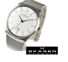 SKAGEN MEN'S ULTRA SLIM MESH BAND SILVER LUXURY WATCH 780XLSS
