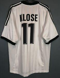 MEN'S KLOSE GERMANY 2002/2004 DEUTSCHLAND SOCCER FOOTBALL SHIRT JERSEY SIZE XL