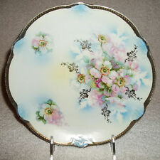 Antique Germany Porcelain Rose Plate Circa 1900's, B. T. Co. Burley & Tyrell