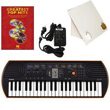Casio SA-76 44 Key Mini Keyboard W/Adapter, Stand & Pop Hits Beginner Book