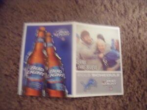 2013 Detroit Lions (National Football League) Bud Light football pocket schedule