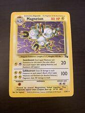 MAGNETON 11/62 Holo Foil Rare Base Set FOSSIL Pokemon Card