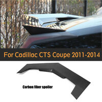 Rear Spoiler Trunk Wing Refit Fit For Cadillac CTS 2D Coupe 11-14 Carbon Fiber