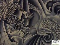 RPFKBX1 Japanese Dragon Asian Sky Smokey Indigo Japan Asia Cotton Quilt Fabric