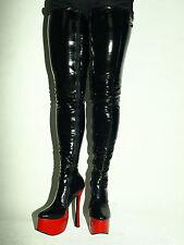Sexy Overknee lack 37 38 39 40 41 42 43 44 45 46 47 Heels 20cm Bolingier fs1399