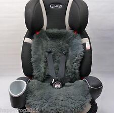 SHEEPSKIN GREY Buggy Pushchair Pram Car Seat Liner Mat Natural Warm&Fluffy
