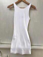 TOPSHOP WOMENS WHITE RIBBED TANK MINI DRESS SIZE 2 US