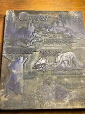 1950's Cougar Cat Wild Book Printing Letterpress Printer Block Print