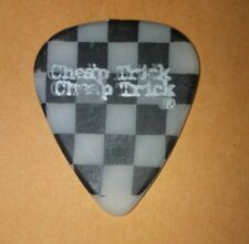 Vtg Rare *Stage Used* Cheap Trick Checkered Blanco Negro Pick Tom Petersson