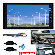 "Wireless Rear View Backup Camera Night Vision System +9"" LCD TFT Monitor Kits"